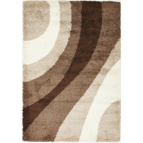 Network Rugs Cosmo Shag Ivory, Beige And Brown Shag Rug
