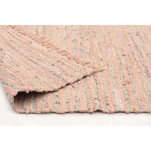 Network Rugs Bondi Leather and Jute Nude Pink Rug