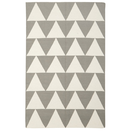 Network Rugs Pyramid Flat Weave Rug Grey