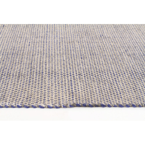 Alpine Navy 100 Pure Wool Scandinavian Style Flatweave Rug