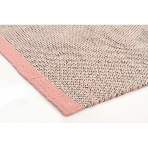 Network Rugs Alpine Pink 100 Pure Wool Scandinavian Style Flatweave Rug