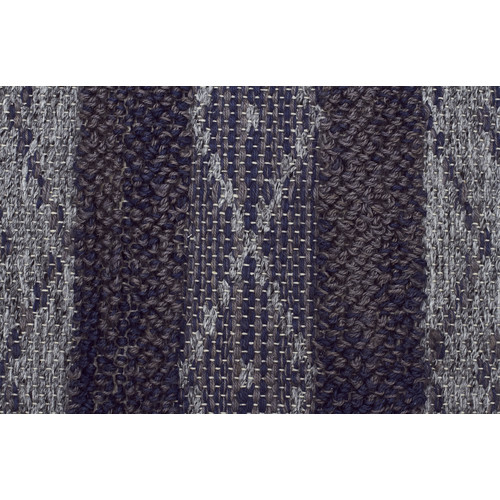 Arelius Scandinavian Style Wool And Jute Navy And Natural