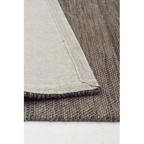 Elias Scandinavian Style Wool And Jute Grey Rug Temple