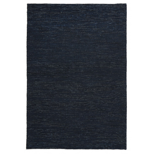 Network Rugs Elias Scandinavian Style Wool and Jute Midnight Blue Rug
