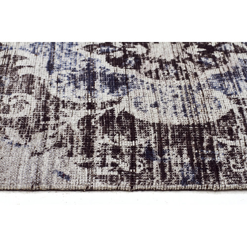Network Rugs Elinor Scandinavian Style Viscose and Cotton Charcoal Rug
