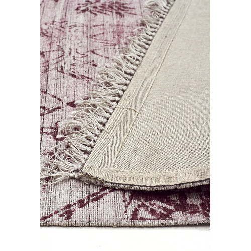 Network Rugs Elinor Scandinavian Style Viscose and Cotton Rose Rug