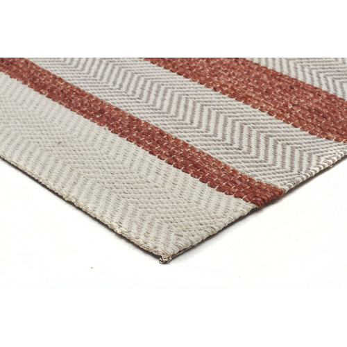 Network Rugs Holm Scandinavian Style Cotton and Wool Copper Rug