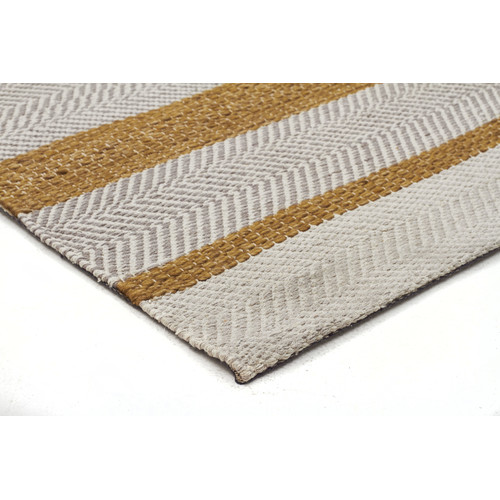 Network Rugs Holm Scandinavian Style Cotton and Wool Yellow Rug