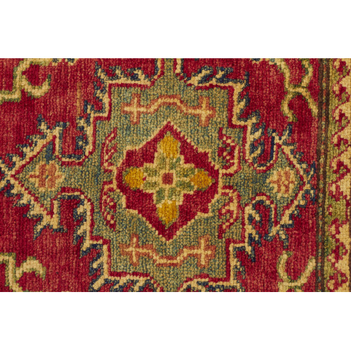 Orhan Vintage Style Hand Knotted Kazak Wool Rug Temple