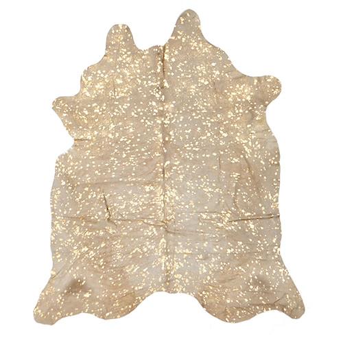 Network Rugs Metallic Gold Cow Hide Rug