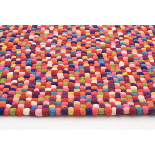 Network Rugs Felted Wool Ball Rug