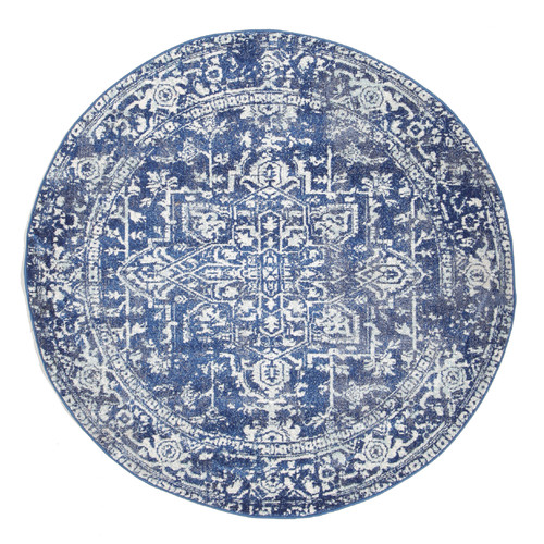 Navy Amp Round Art Moderne Cezanne Rug Temple Amp Webster