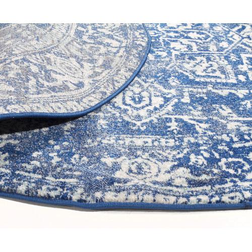 Network Rugs Navy & Round Art Moderne Cezanne Rug