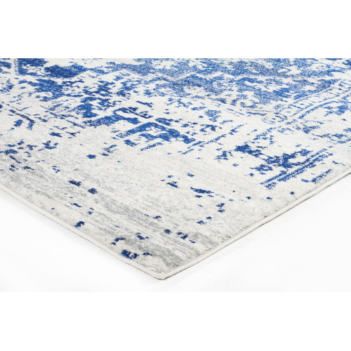 Network Rugs Bone, White & Navy Art Moderne Cezanne Rug