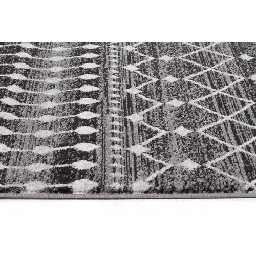 Network Rugs Black Art Moderne Salon Runner