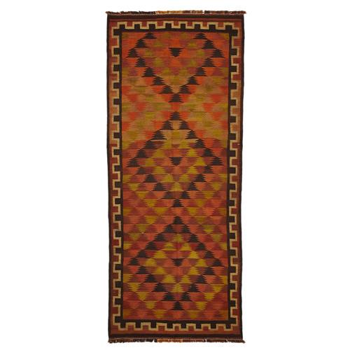 Camel Wool Rug Persian Rug Handwoven Kilim Area: Pierce Hand Woven Flatweave Persian Kilim Wool Rug
