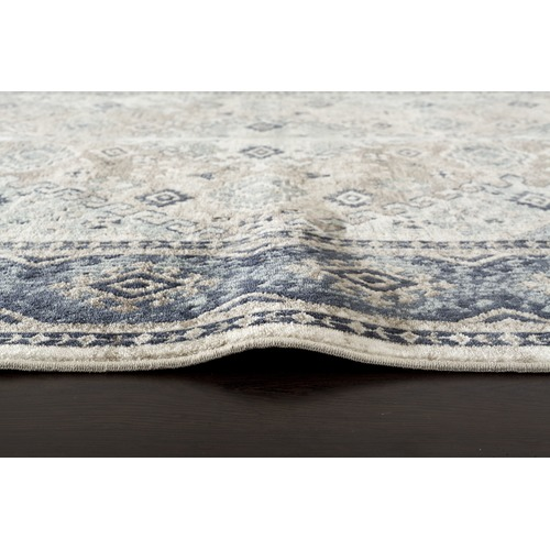 Network Rugs Vannessa Navy, Cream & Beige Chenille Cotton Modern Rug