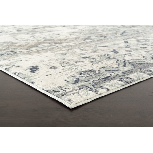 Network Rugs Leila Blue & Cream Chenille Cotton & Silky-finish Modern Rug