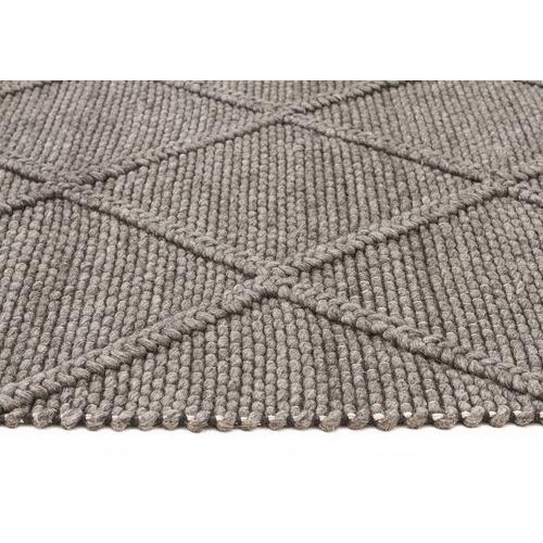 Grey Hand Woven Flatweave Wool Amp Viscose Rug Temple