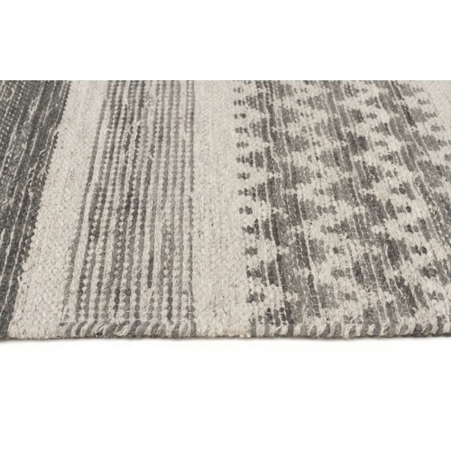Lula Smoke Grey Hand Loomed Wool Amp Viscose Rug Temple