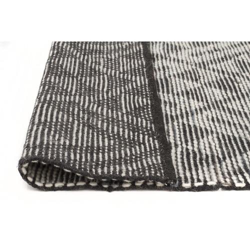 Jermaine Smoke Grey Hand Loomed Pure Wool Rug Temple