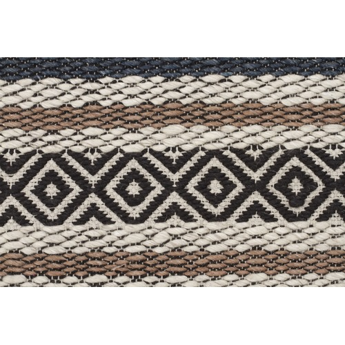 Network Rugs Pat Denim, Grey & Copper Hand Loomed Rug