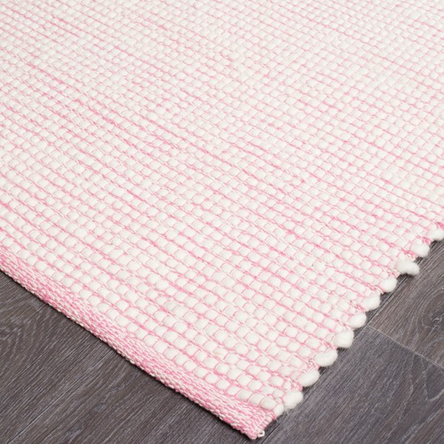 Network Rugs Pink & White Felted Wool Scandi Rug