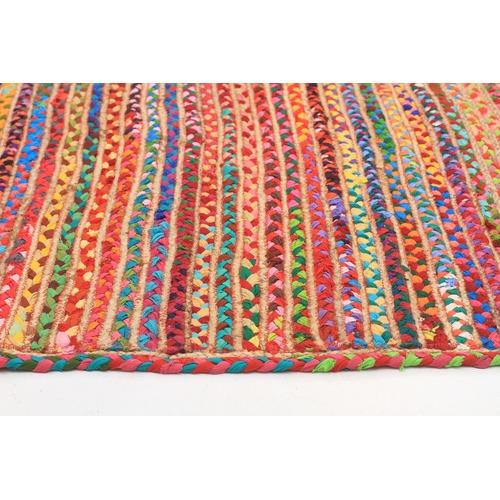 Network Rugs Bohemian Jasmine Hand Braided Multi Coloured Rug