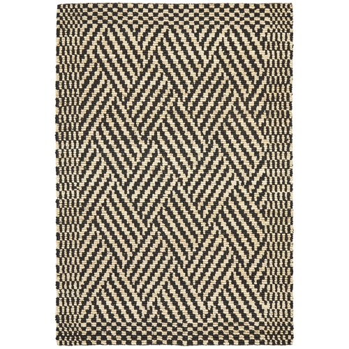 Network Rugs Sultana Natural & Black Woven Jute Rug