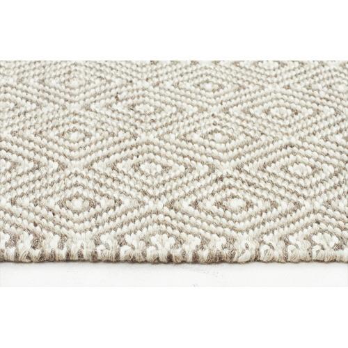 Network Rugs Shiva Stunning Silver Grey Diamond Wool Rug
