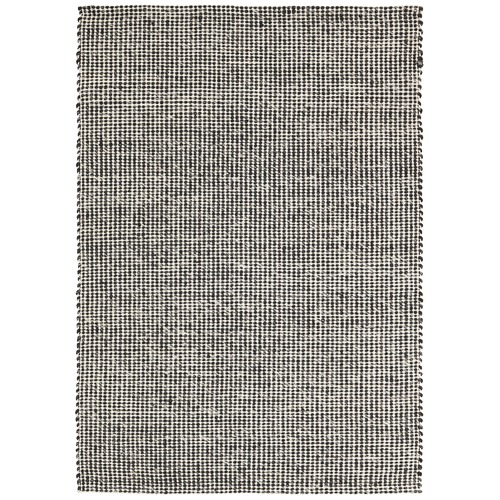 Network Rugs Carlos Felted Wool Rug Black Natural