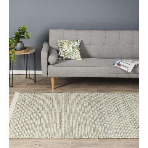 Mani Natural 100 Pure New Wool Scandinavian Style Flatweave Rug