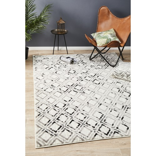 Network Rugs Grey & Charcoal Geometric Rug