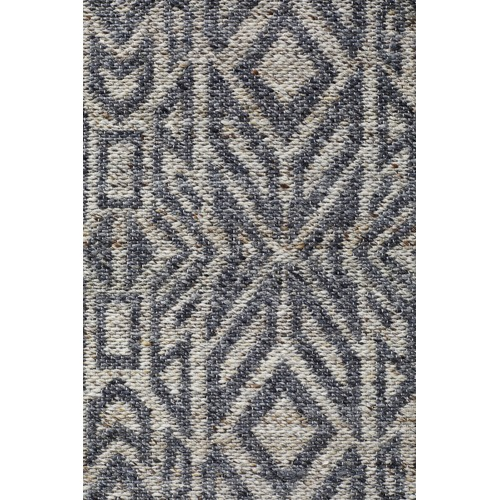 Network Rugs Graphite & Silver Hand-Woven Modern Tribal Rug