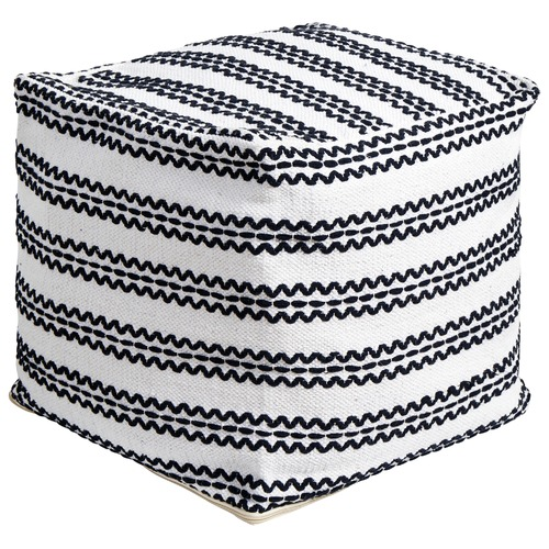 Phenomenal White Black Zig Zag Cotton Ottoman Ocoug Best Dining Table And Chair Ideas Images Ocougorg