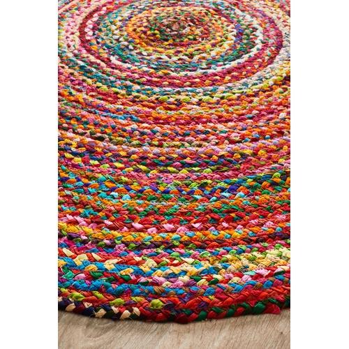 Network Rugs Flavour Jasmine Hand Braided Multi Coloured Rug