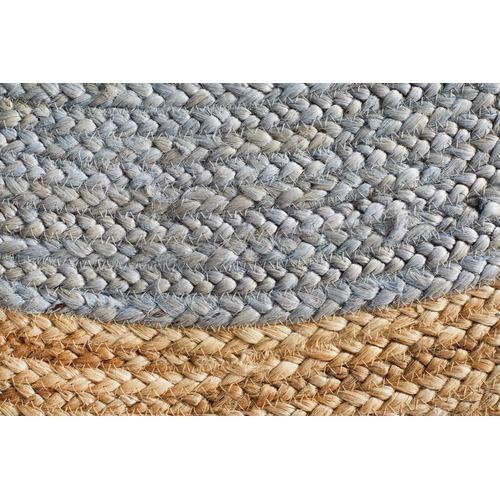 Network Rugs Jute Natural Silver Blue Rug