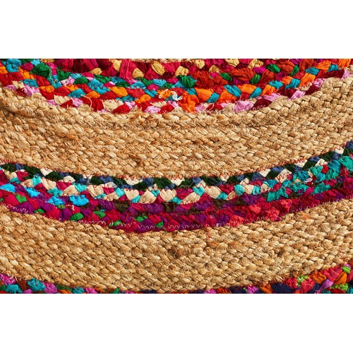 Radiant Jasmine Hand Braided Multi Coloured Rug