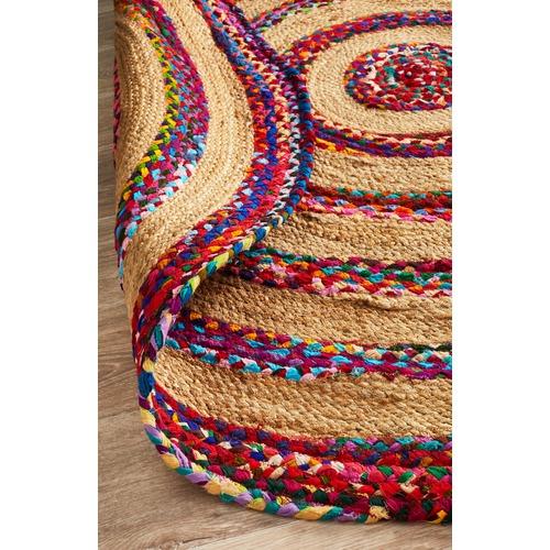 Network Rugs Radiant Jasmine Hand Braided Multi Coloured Rug