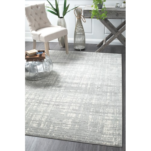 Network Rugs Parishan Silver & Grey Power Loomed Modern Rug