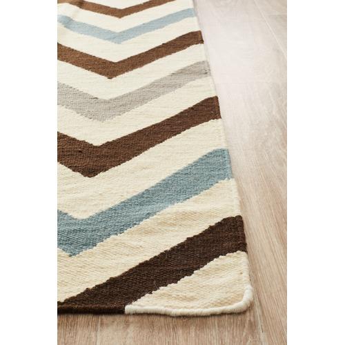 Ida Chevron Flat Weave Wool Rug