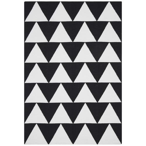 Network Rugs Pyramid Flat Weave Rug Black