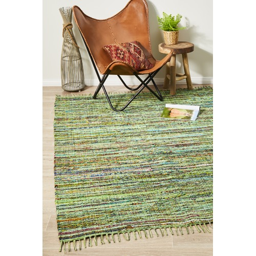 Network Rugs Primal Chindi Cotton Green Rug