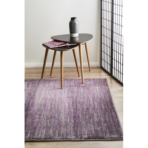 Network Rugs Pandora Contemporary Stripe Rug Aubergine Grey