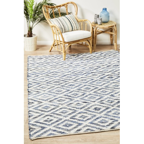Network Rugs Aligarh Upcycled Denim & Cotton Hand Loomed Rug