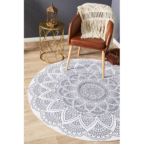Network Rugs White Hamptons Hand Braided Cotton Rug