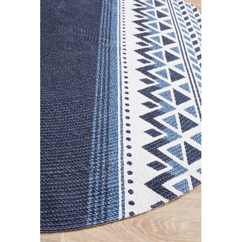 Network Rugs Navy Naval Hand Braided Cotton Rug
