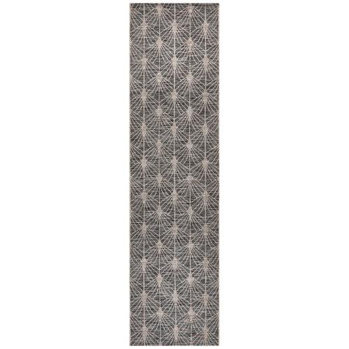 Network Rugs Black & Natural Art Deco Flat Woven Rug