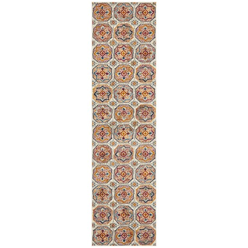 Multi-coloured Rust Garden Circle Vintage Look Runner