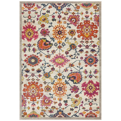 Network Rugs Multi-coloured Wildflower Vintage Look Rug
